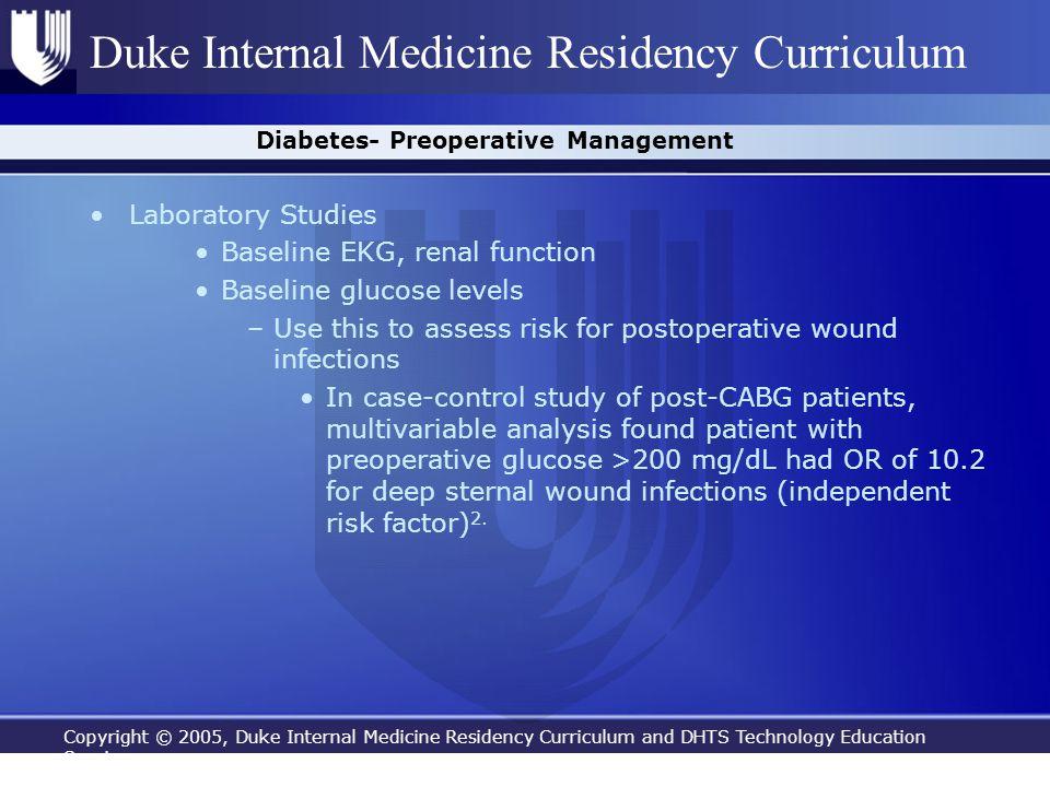 Diabetes- Preoperative Management