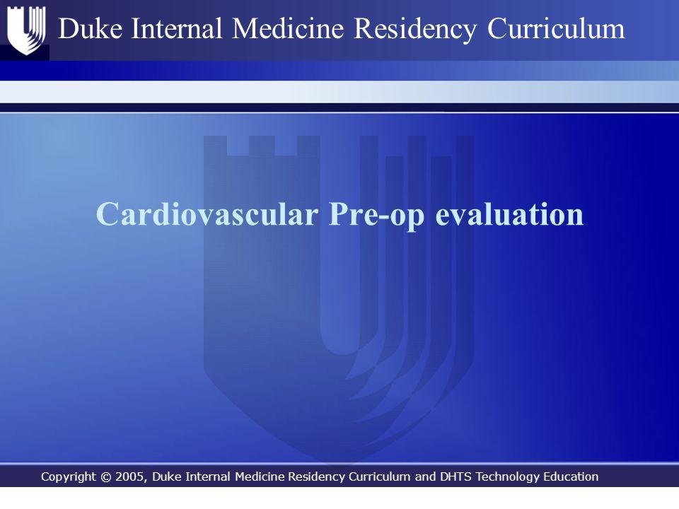 Cardiovascular Pre-op evaluation