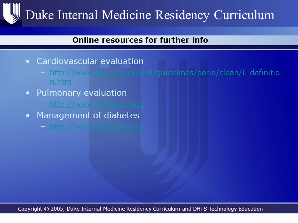 Online resources for further info