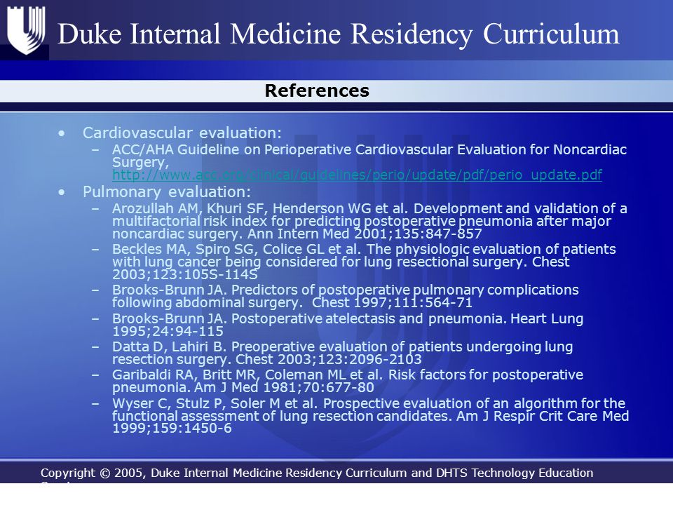 References Cardiovascular evaluation: Pulmonary evaluation: