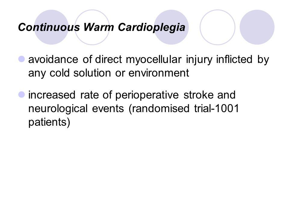 Continuous Warm Cardioplegia