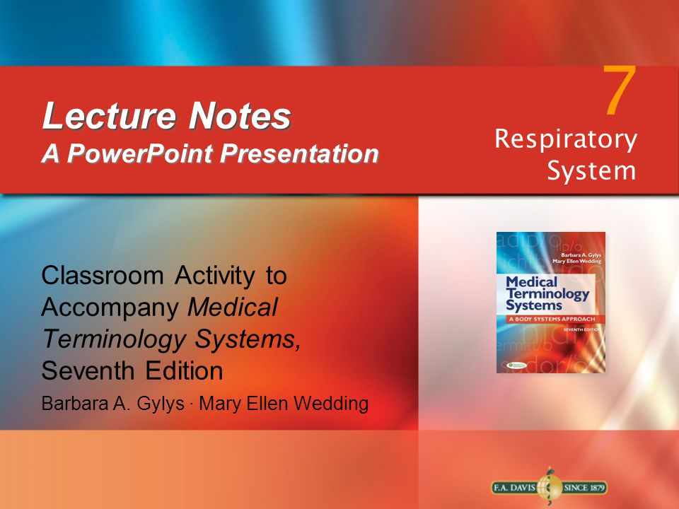 Lecture Notes A PowerPoint Presentation