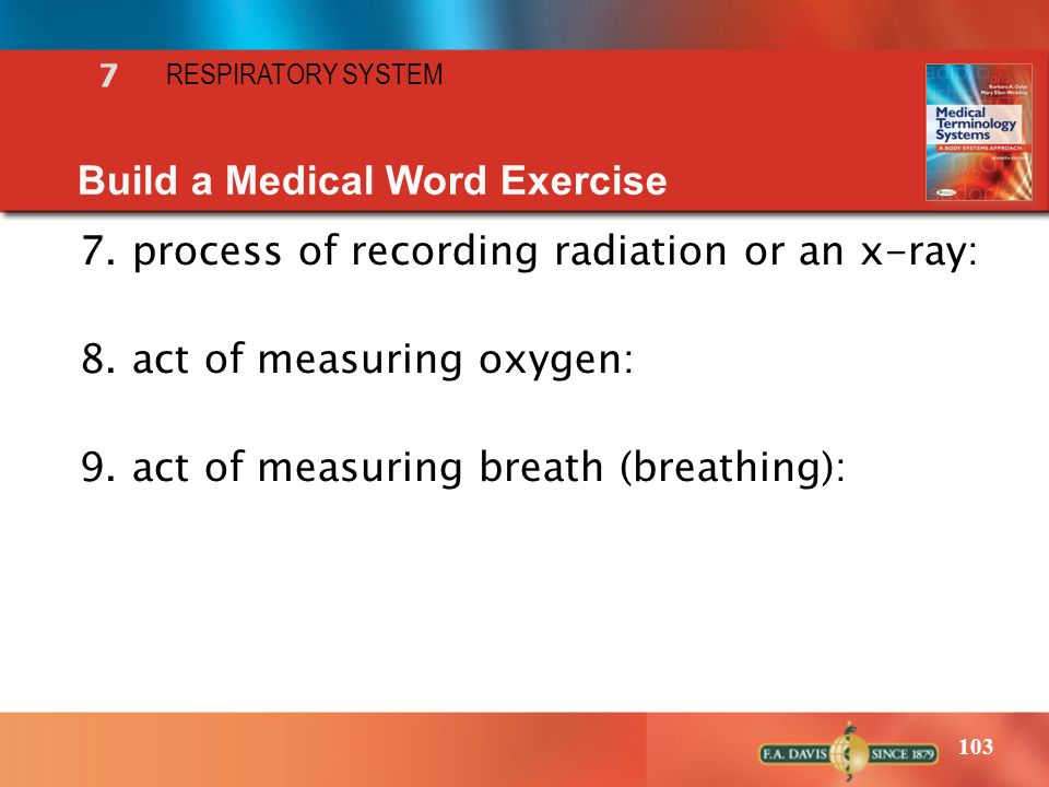 Build a Medical Word Exercise