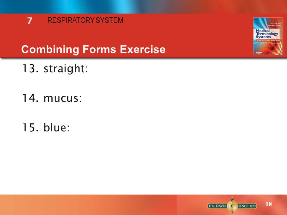 Combining Forms Exercise