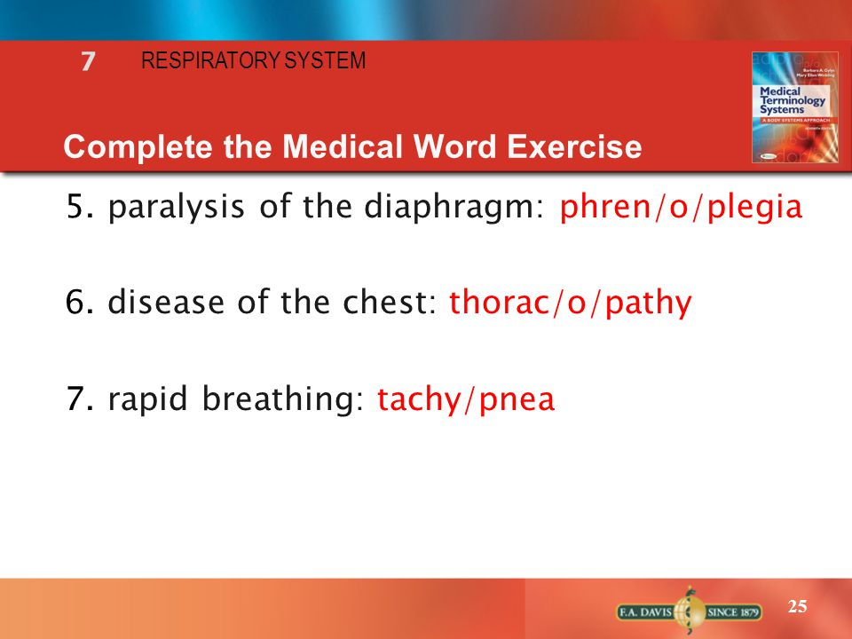 Complete the Medical Word Exercise