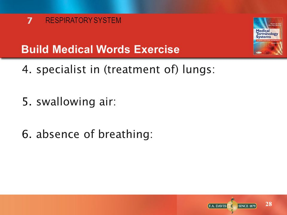 Build Medical Words Exercise