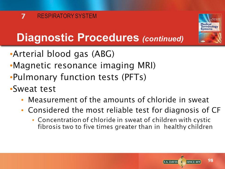 Diagnostic Procedures (continued)