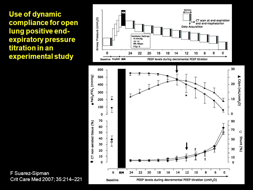 Use of dynamic compliance for open lung positive end-expiratory pressure titration in an experimental study