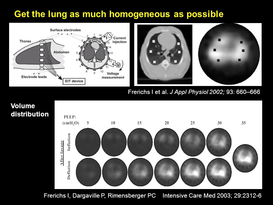 Get the lung as much homogeneous as possible