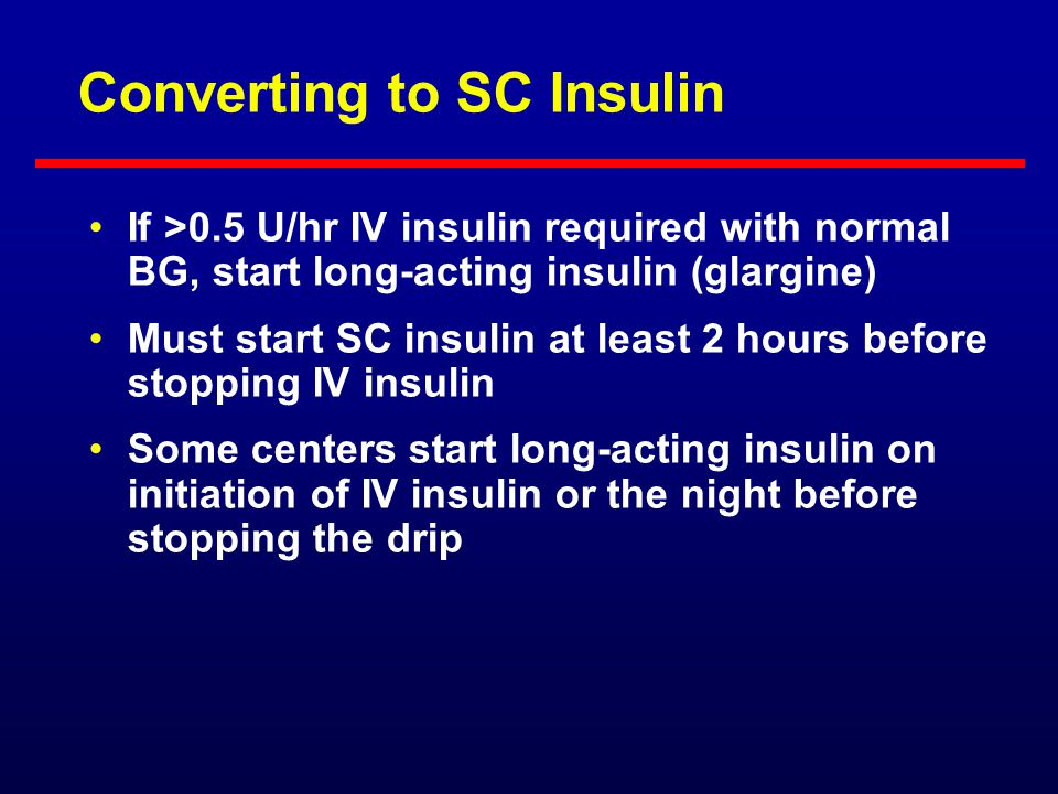 Converting to SC Insulin