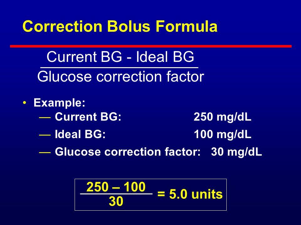 Correction Bolus Formula