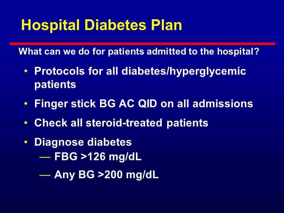 Hospital Diabetes Plan