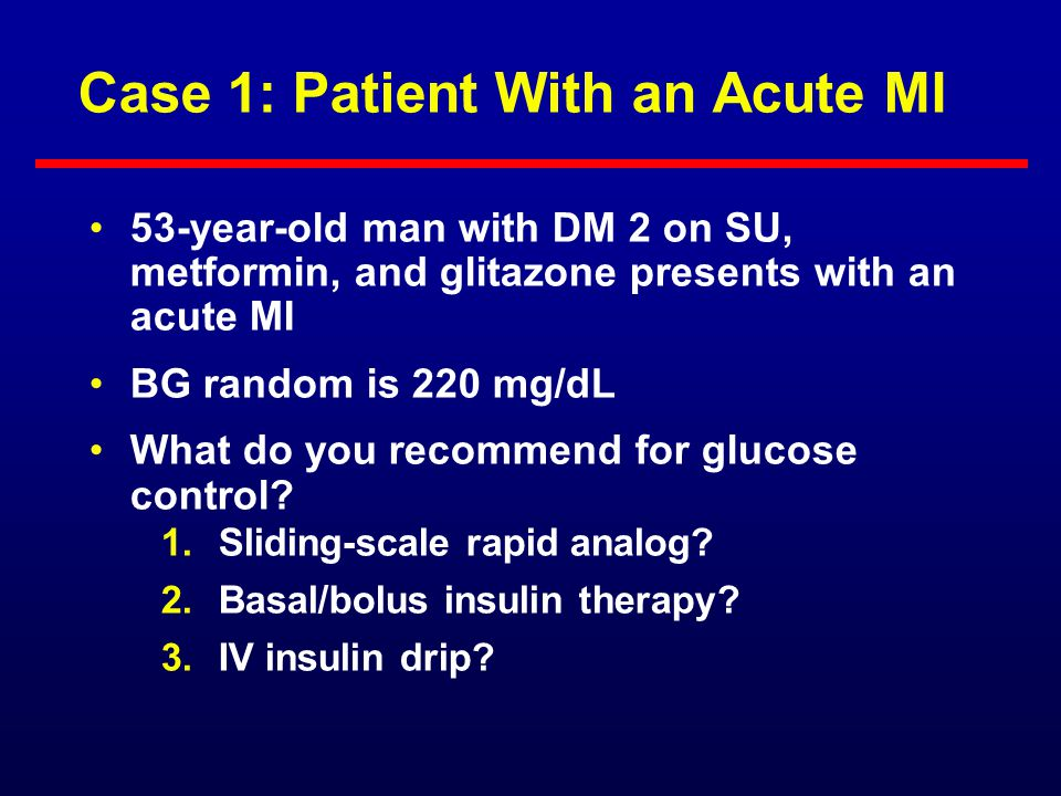 Case 1: Patient With an Acute MI