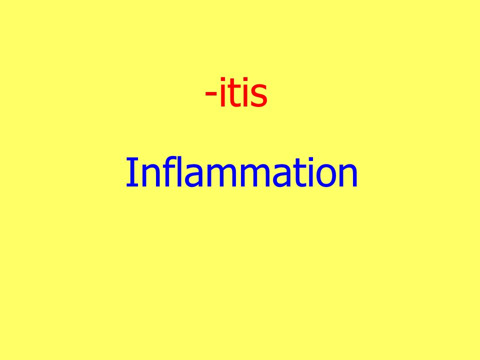 -itis Inflammation