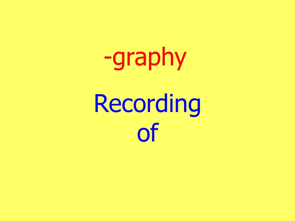 -graphy Recording of