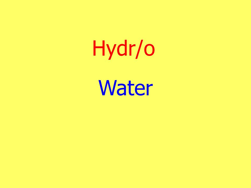 Hydr/o Water
