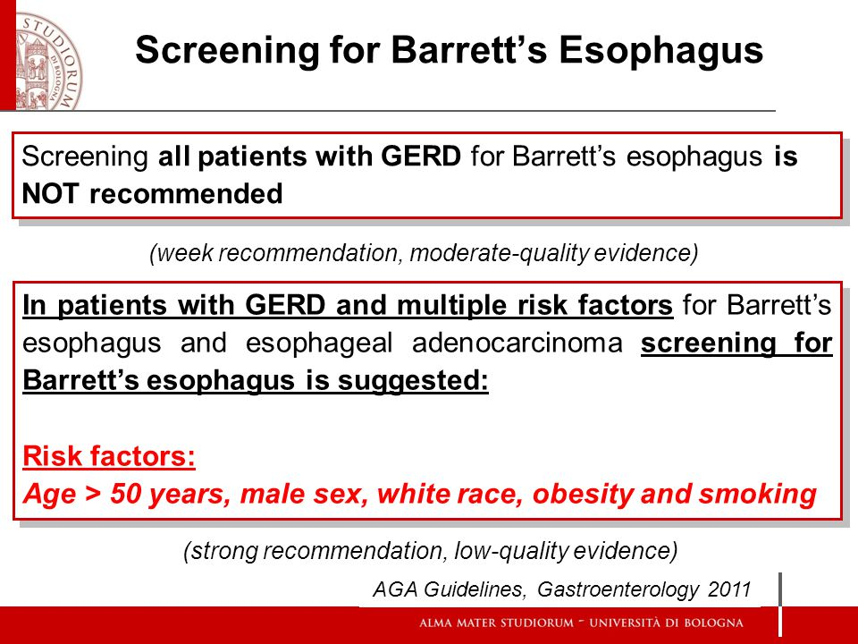 Screening for Barrett's Esophagus