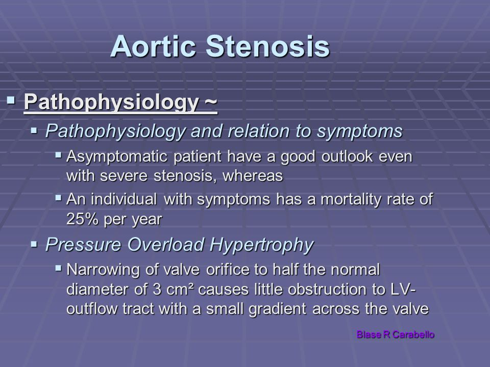 Aortic Stenosis Pathophysiology ~