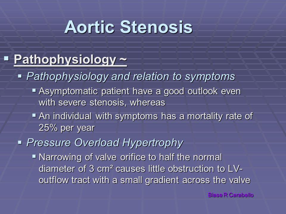 Aortic Stenosis Pathophysiology ~
