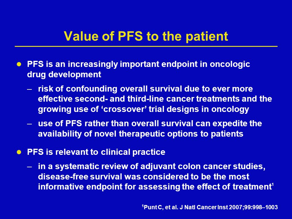 Value of PFS to the patient