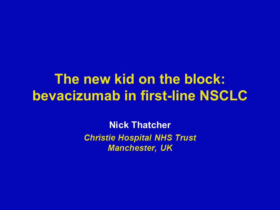 The new kid on the block: bevacizumab in first-line NSCLC