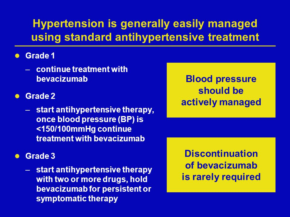 Hypertension is generally easily managed using standard antihypertensive treatment