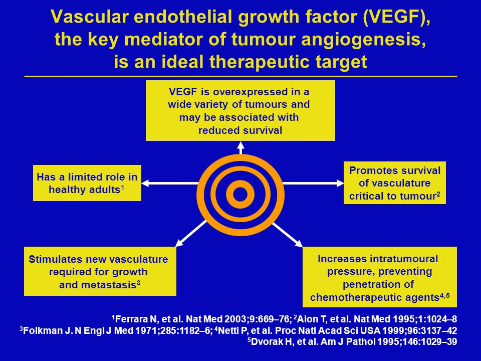 Vascular endothelial growth factor (VEGF), the key mediator of tumour angiogenesis, is an ideal therapeutic target