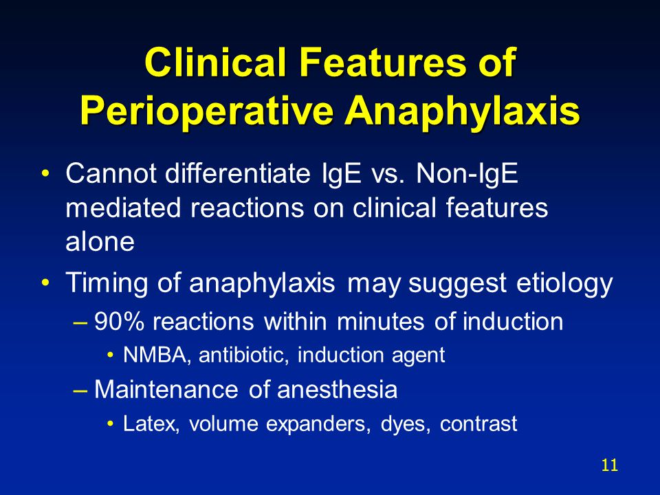 Clinical Features of Perioperative Anaphylaxis