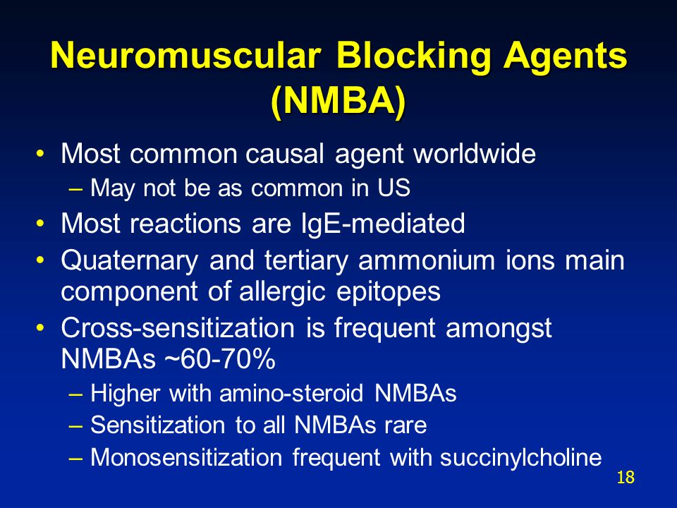 Neuromuscular Blocking Agents (NMBA)