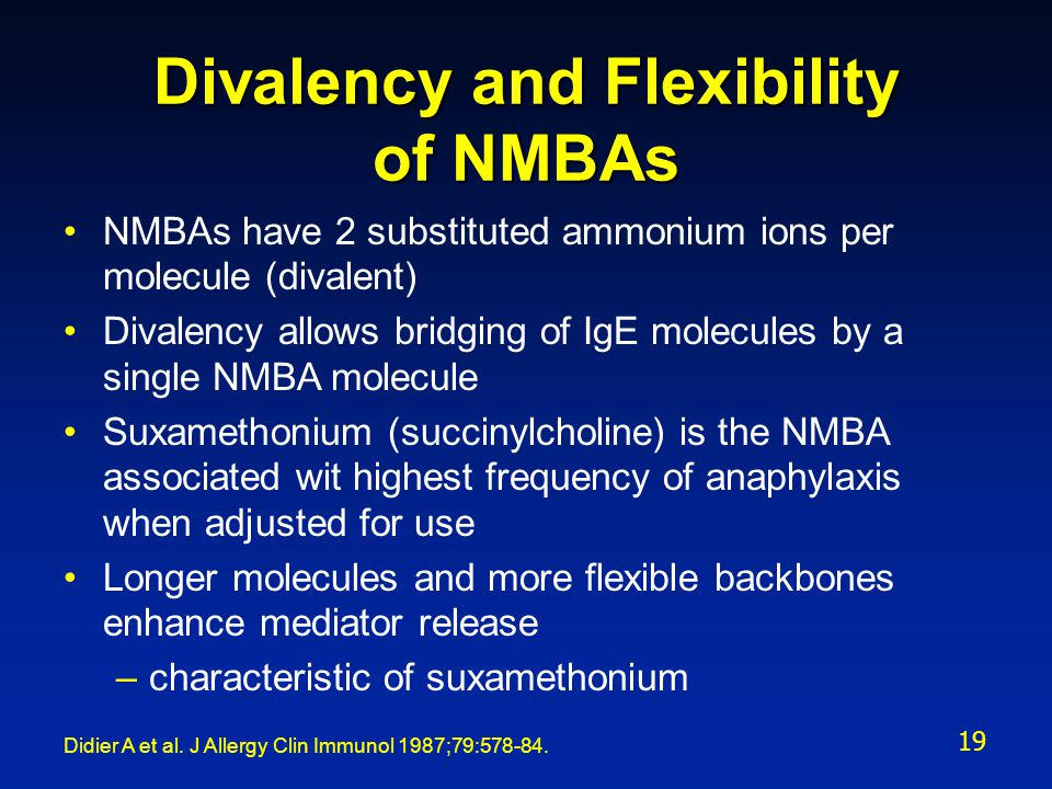 Divalency and Flexibility of NMBAs