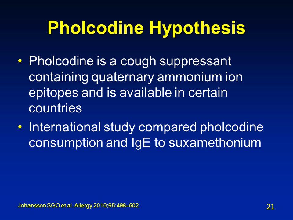 Pholcodine Hypothesis
