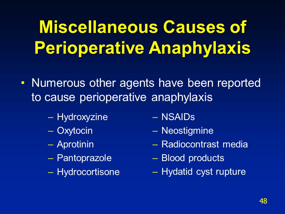 Miscellaneous Causes of Perioperative Anaphylaxis
