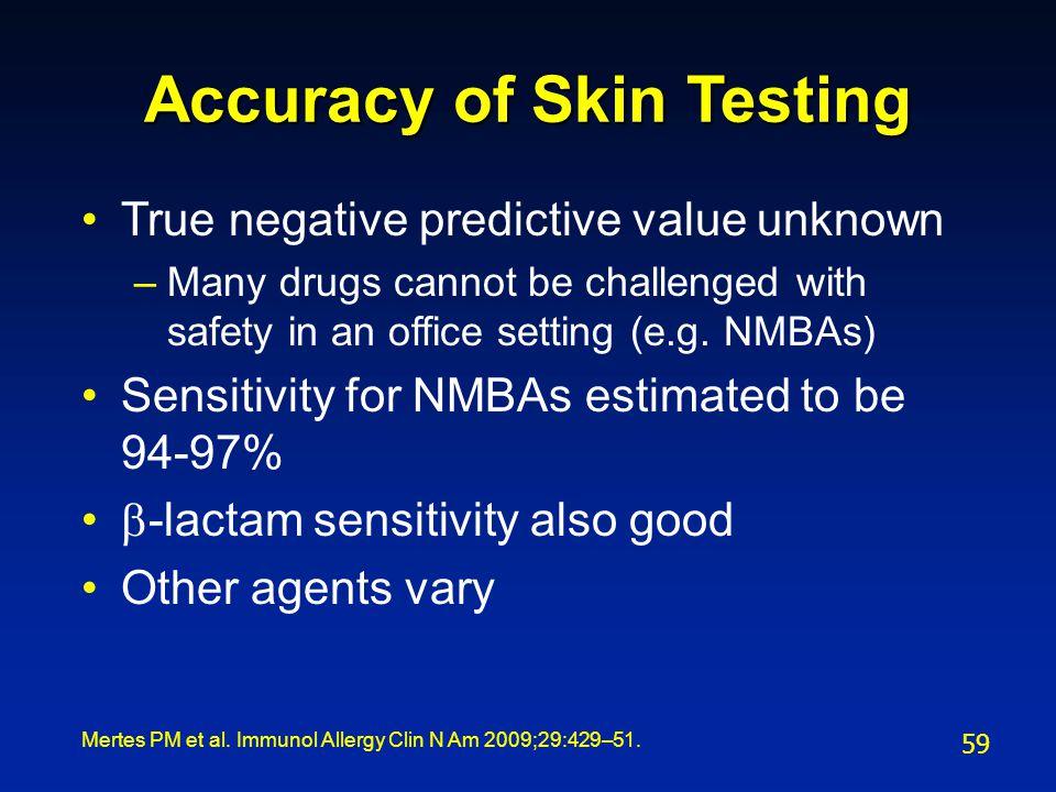 Accuracy of Skin Testing