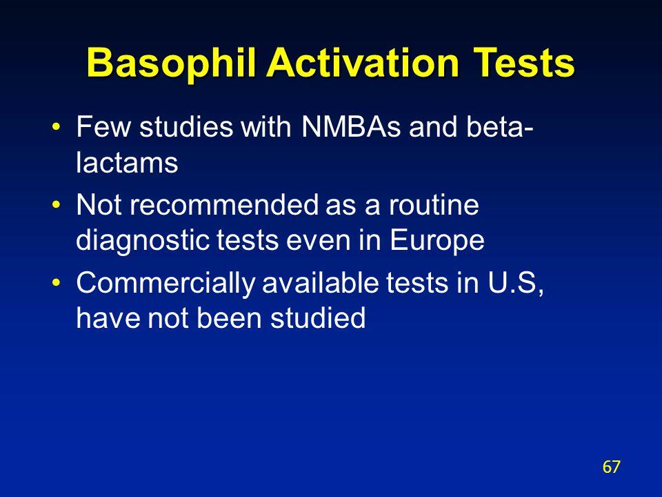 Basophil Activation Tests