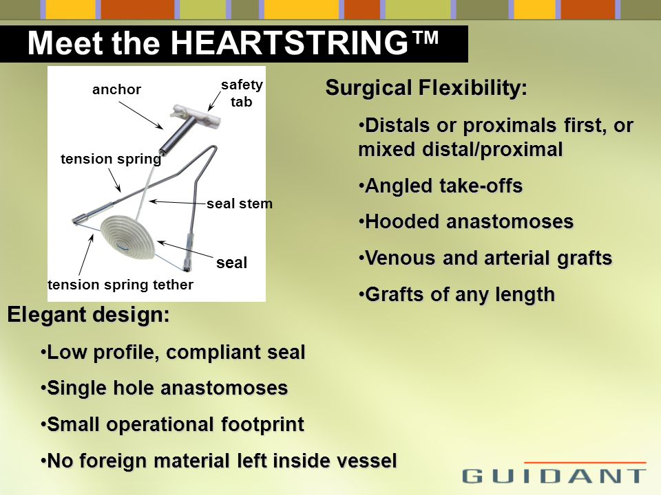 Meet the HEARTSTRING™ Surgical Flexibility: Elegant design: