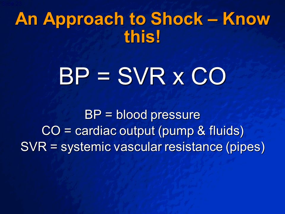An Approach to Shock – Know this!