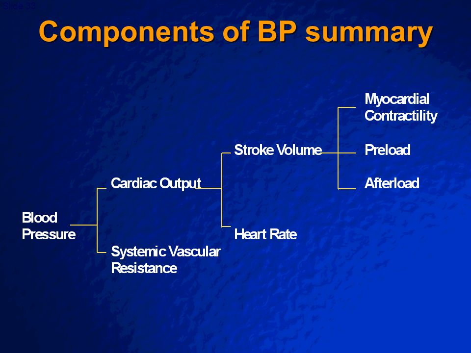 Components of BP summary