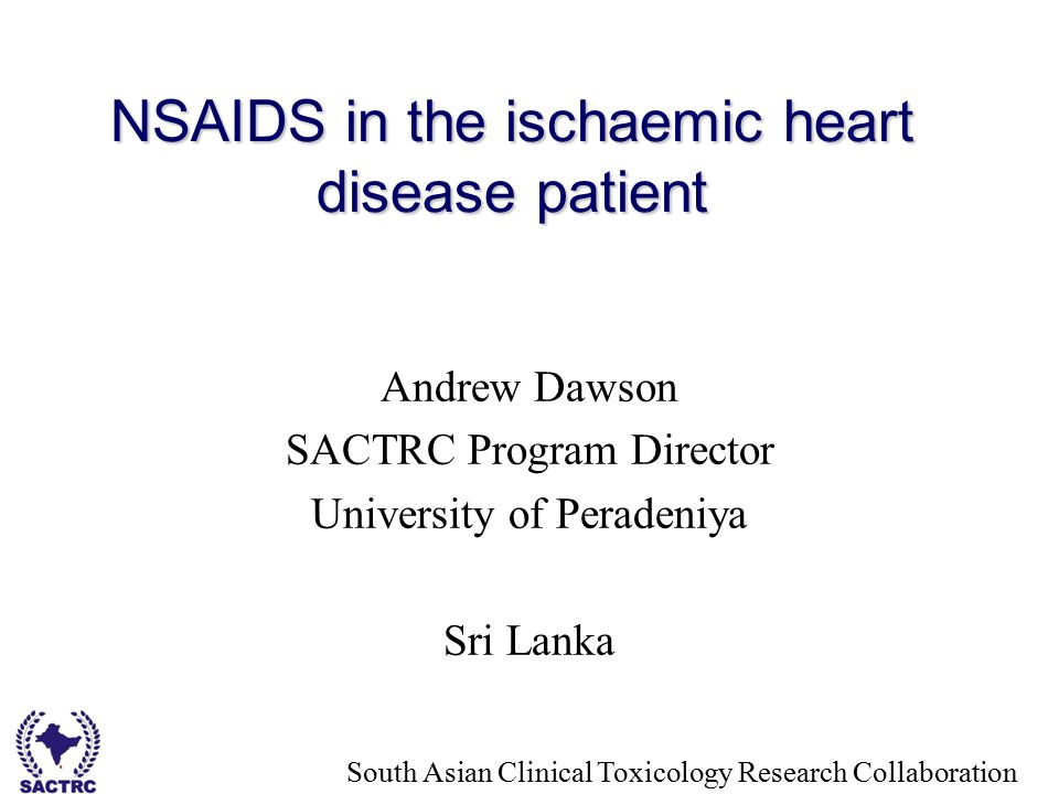 NSAIDS in the ischaemic heart disease patient