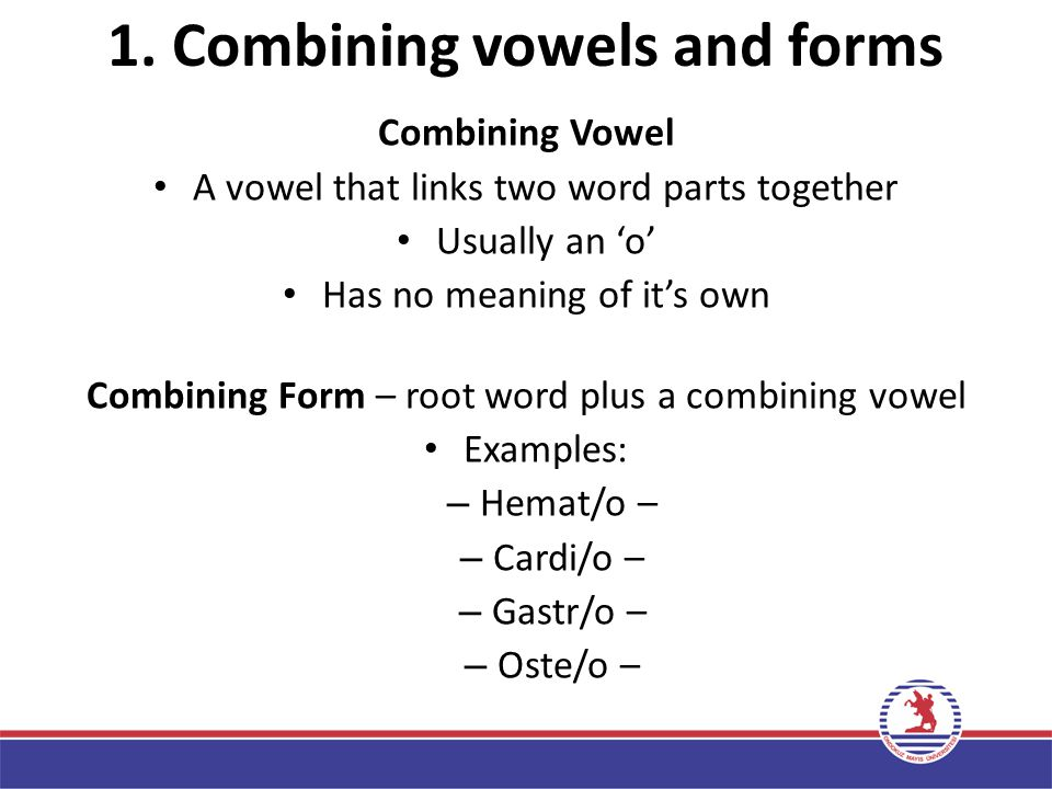 1. Combining vowels and forms