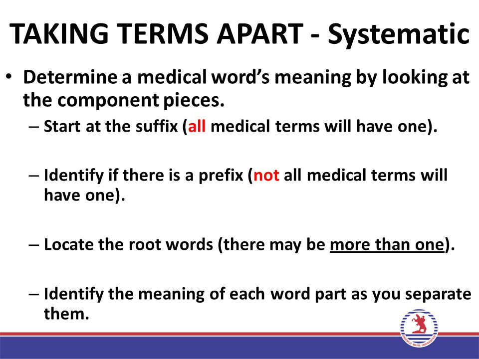 TAKING TERMS APART - Systematic