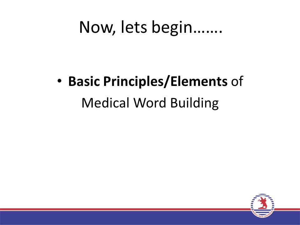 Basic Principles/Elements of