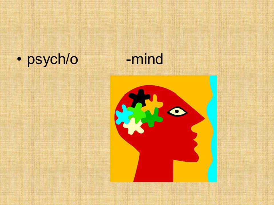 psych/o -mind