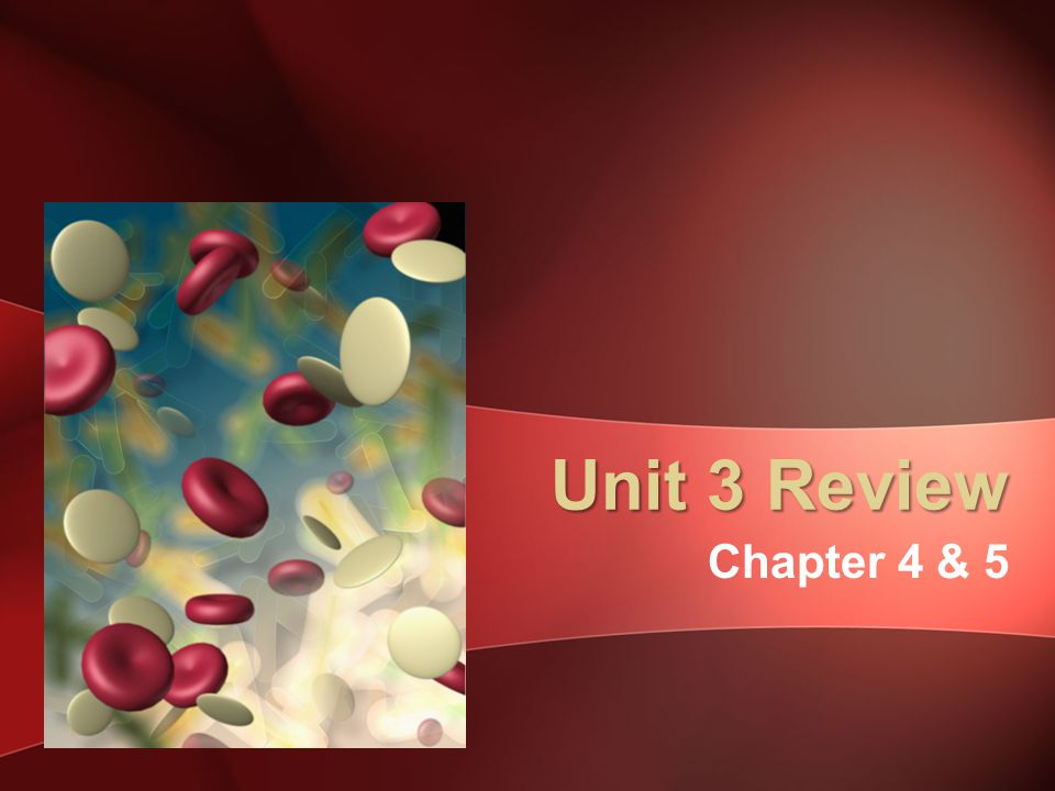 Unit 3 Review Chapter 4 & 5