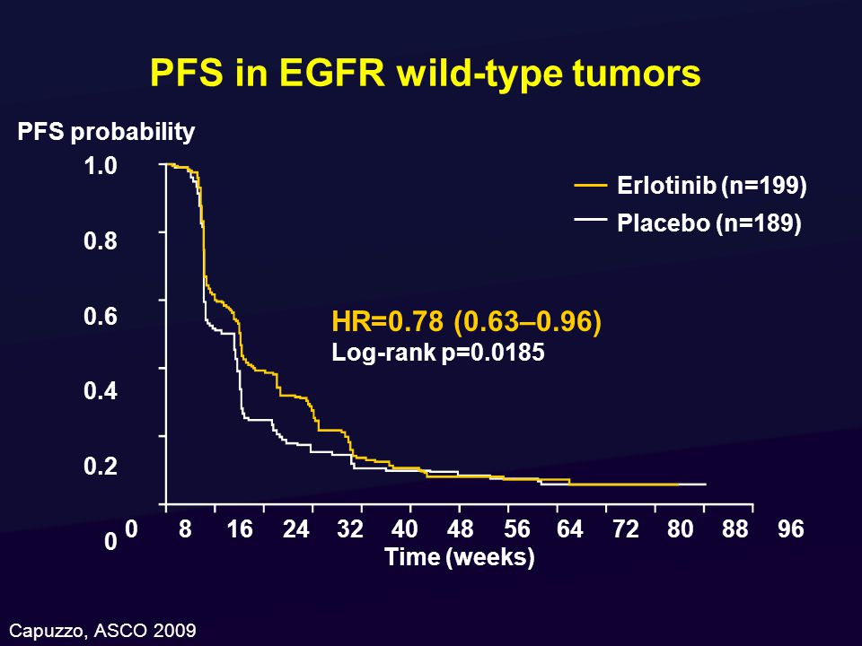 PFS in EGFR wild-type tumors