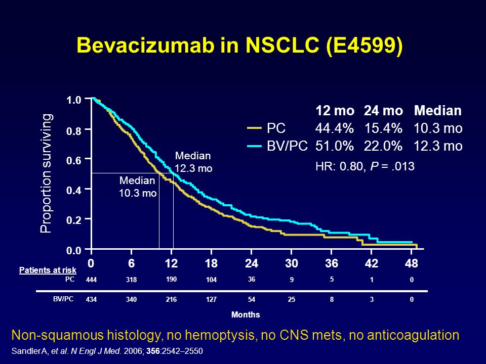 Bevacizumab in NSCLC (E4599)