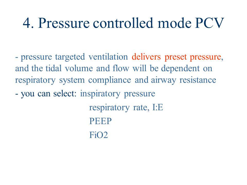 4. Pressure controlled mode PCV