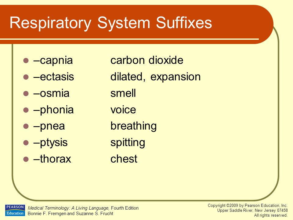 Respiratory System Suffixes