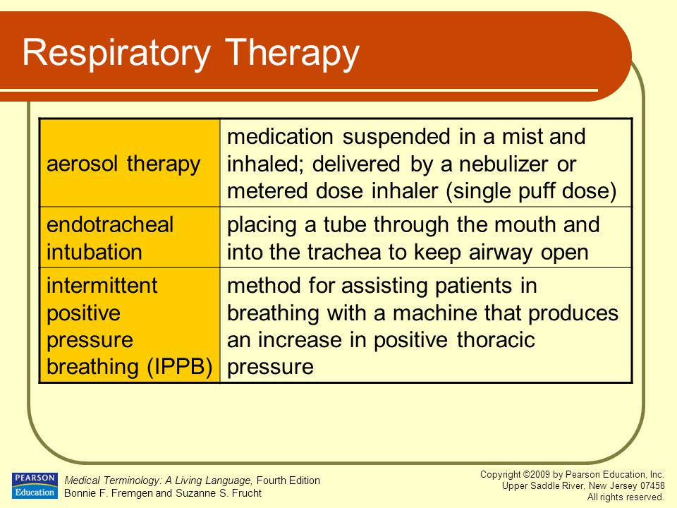 Respiratory Therapy aerosol therapy