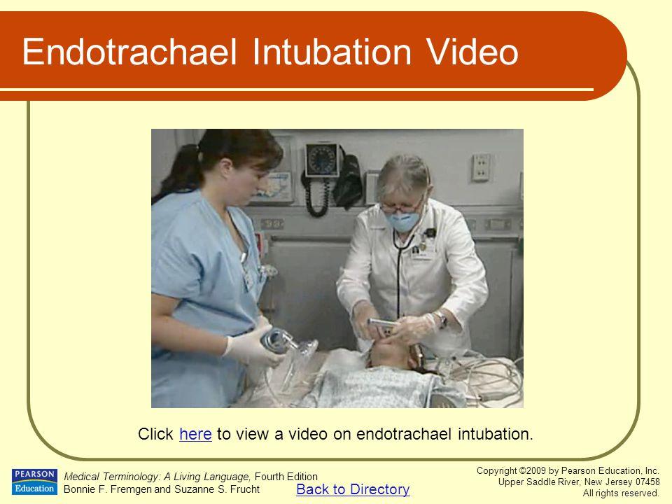 Endotrachael Intubation Video