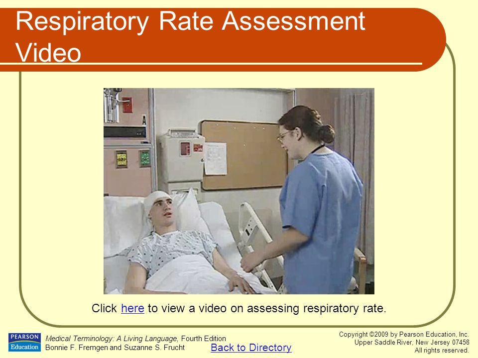 Respiratory Rate Assessment Video